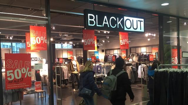 Die Blackout-Filiale in Aarau.