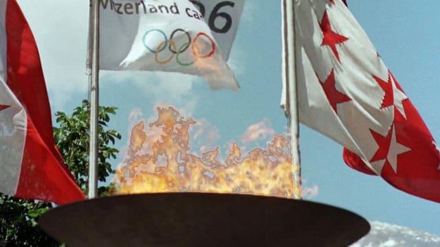 Olympisches Feuer, Walliser Flagge