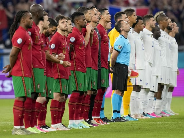 Die Teams von Portugal und Frankreich.