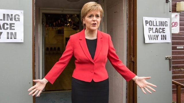Zu sehen ist die schottische Regierungschefin.