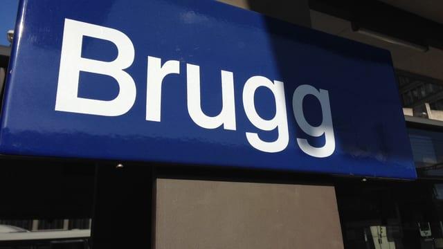 Bahnschild Brugg