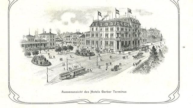 Bild aus einer Broschüre des Hotels (wohl 1910er Jahre)