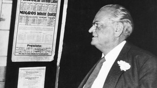 Migros-Gründer Gottlieb Duttweiler.