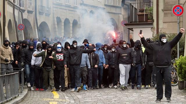 FCZ-Fans in der Berner Altstadt.