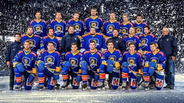 Die Mannschaft des EHC Arosa spielt auch ab kommender Saison in der 1. Liga.