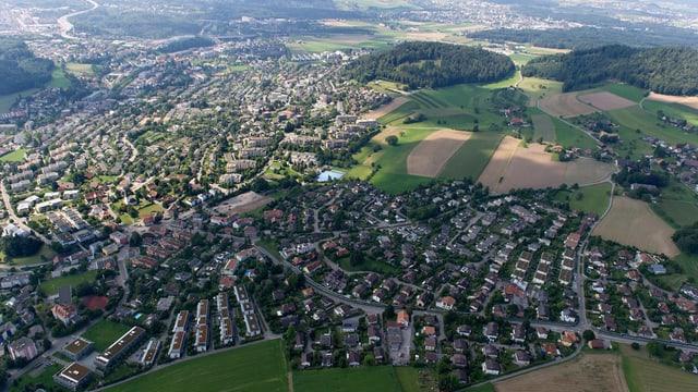 Luftbild von Bolligen und Ittigen.