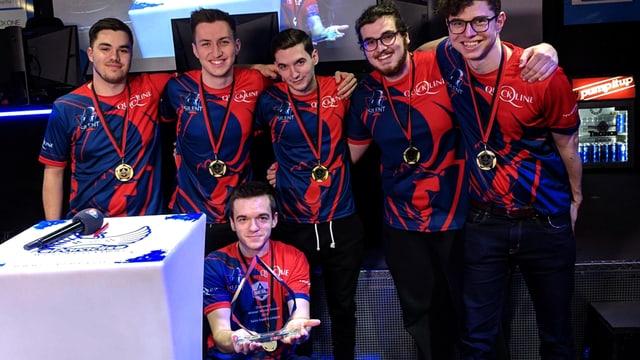 Das Siegerbild des Teams von Silent Gaming, das den «Overwatch»-Final gewonnen hat.