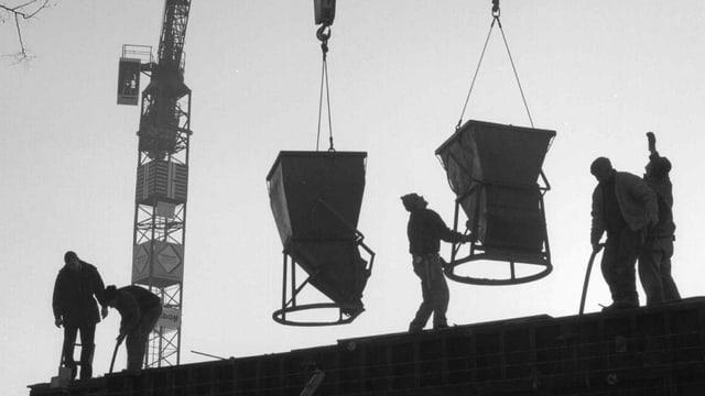 Arbeiter auf dem Bau.