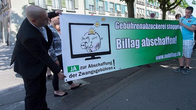 Iniziants cun placat da 'No Billag'