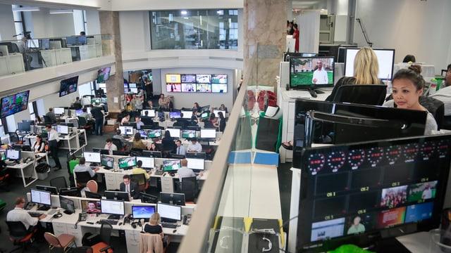 Der Newsroom von Al Jazeera America in New York.