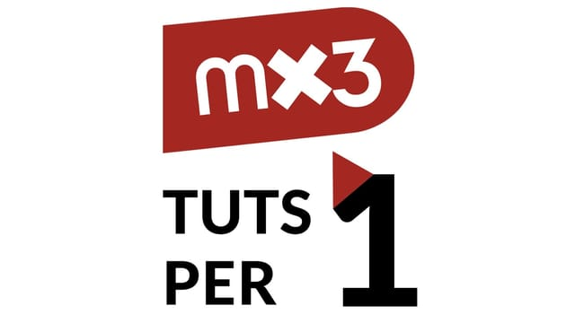 Il logo da la seria Mx3 - tuts per in.
