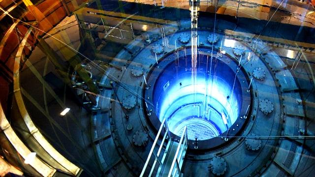 Blick in den Reaktor von Mühleberg.