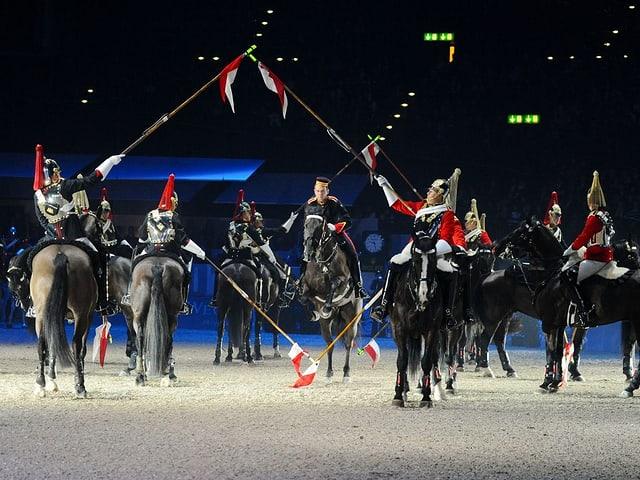 Auftritt der Household Cavalry im Jahr 2011 am CSI Zürich.