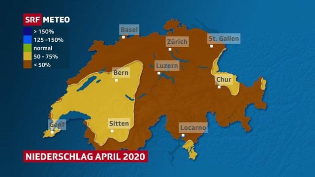 Ein Karte zeigt, dass das Defizit im Westen etwas kleiner ist.