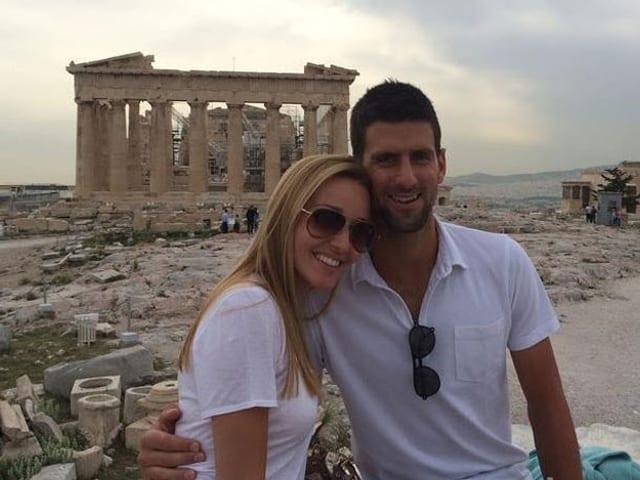 Novak Djokovic und Jelena Ristic.