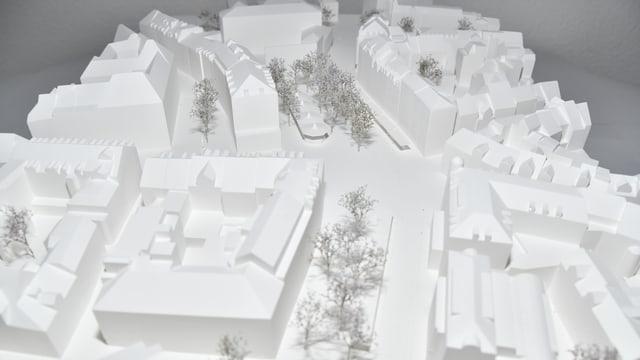 Foto Modell des Siegerprojektes «Vadian».