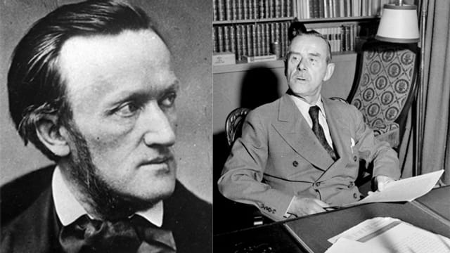 Beide haben eine spezielles Verhältnis zu Venedig: Der Komponist Richard Wagner (l.) und der Literat Thomas Mann.