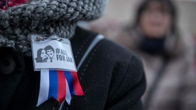 Kundgebung für den ermordeten slowakischen Journalisten Jan Kuciak.
