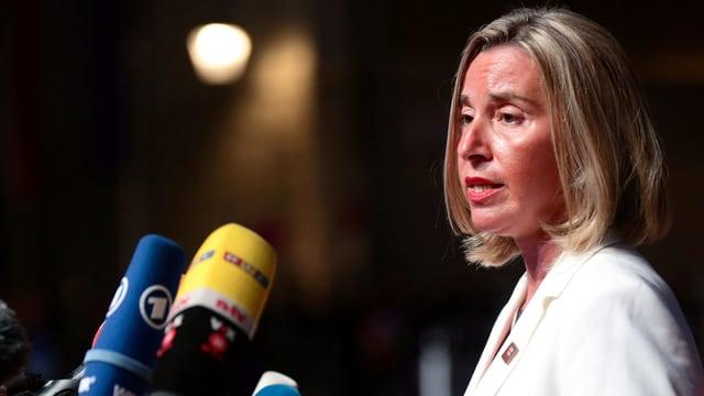 Die EU-Aussenbeauftrage Federica Mogherini