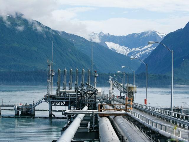 Öl-Pipeline in Alaska