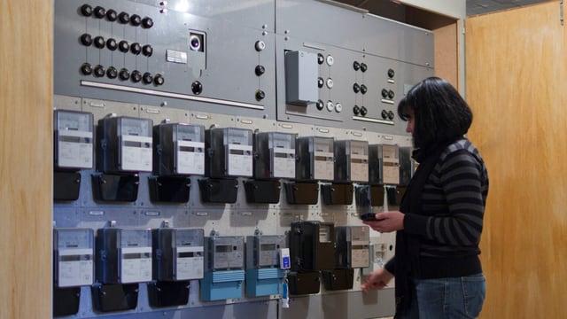 Strom: Verbrauchsdatenerfassung in einem Gebäude.