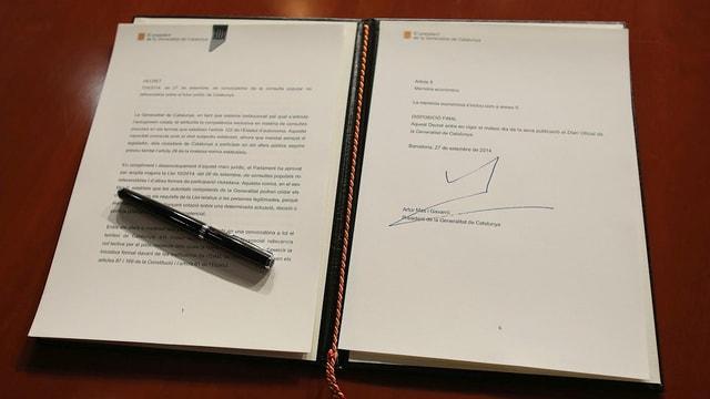 Das Dekret für ein Referendum, unterzeichnet vom katalonischen Präsidenten Artur Mas, hatte keine Chance vor dem Verfassungsgericht.