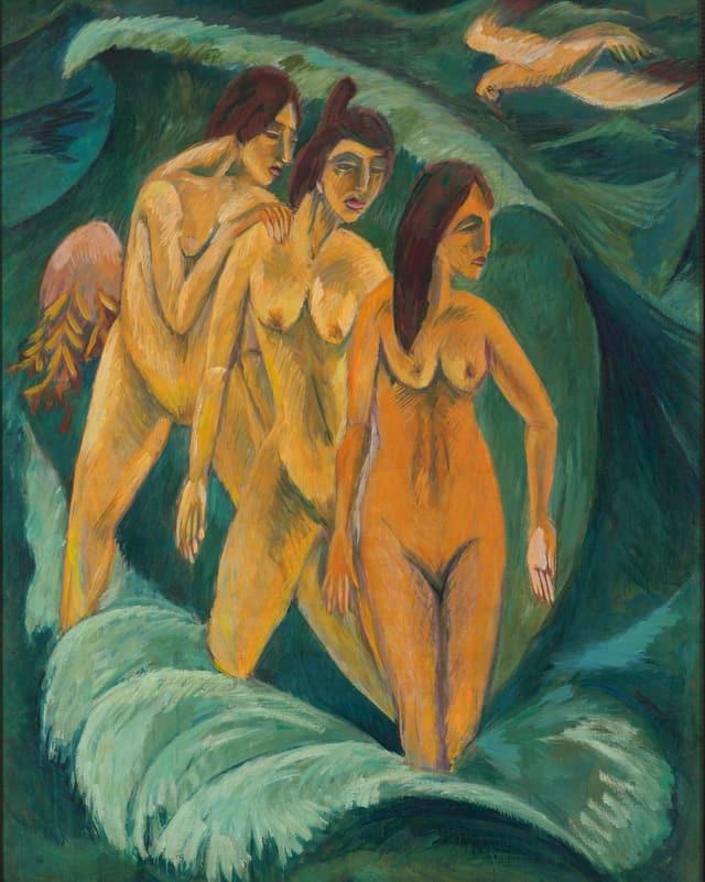 Drei Badende, 1913.