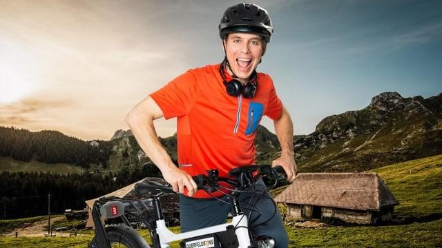 Reto Scherrer mit dem E-Biker