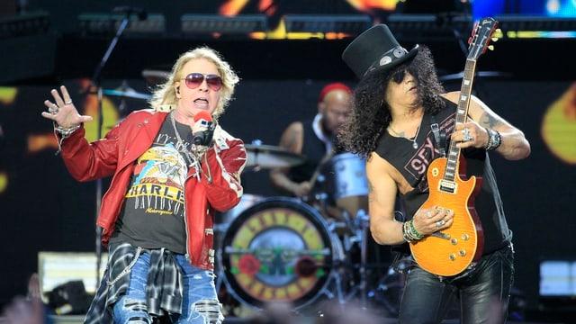 Axl Rose und Slash: Die beiden Rocklegen stehen nach über 20 Jahren wieder gemeinsam auf der Bühne.