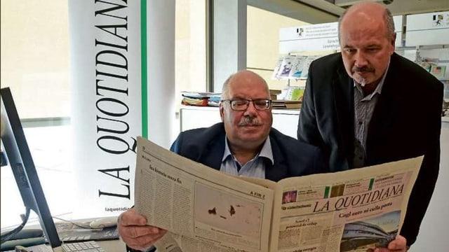 Da sanestra: Schefredactur Martin Cabalzar e mainafatschenta Guido Jörg