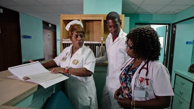 Kubanische Mediziner in einem Spital in Havanna.