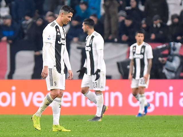Cristiano Ronaldo und seine Teamkollegen sind enttäuscht.