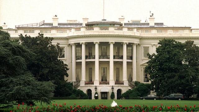 Frontansicht vom Weissen Haus in der US-Hauptstadt Washington.