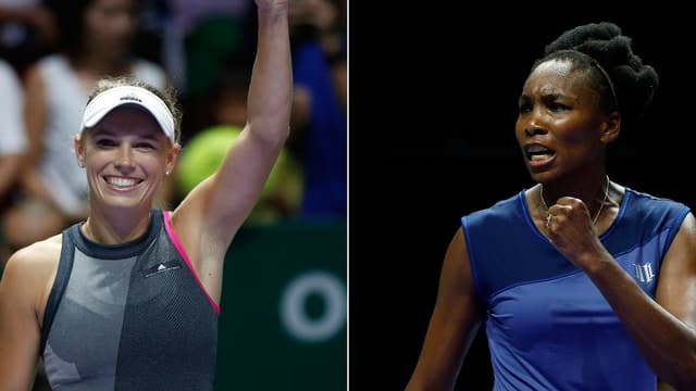 Caroline Wozniacki und Venus Williams.