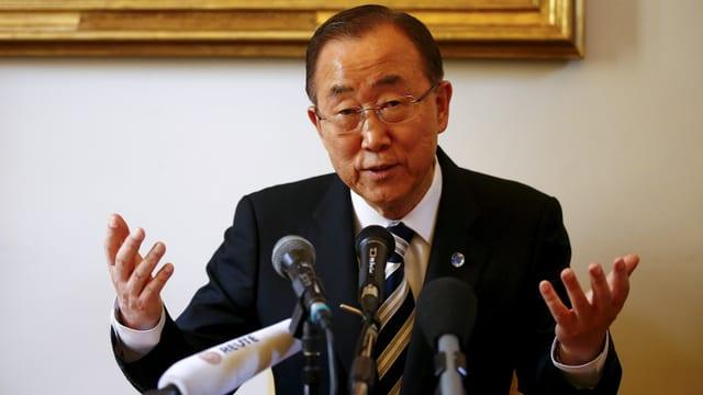 Ban Ki Moon il secretari general da l'ONU.