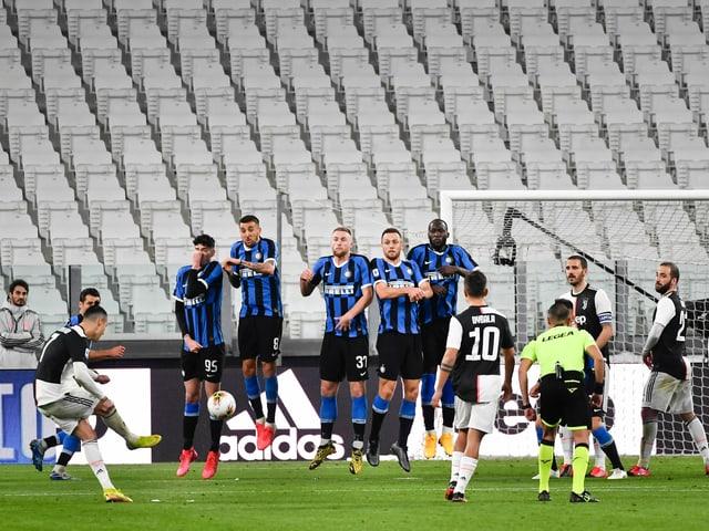 Cristiano Ronaldo strebt mit Juventus Turin den nächsten Sieg an