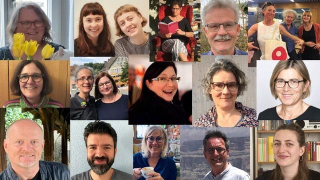 Collage aus Bildern von Menschen, die das Odeon betreiben
