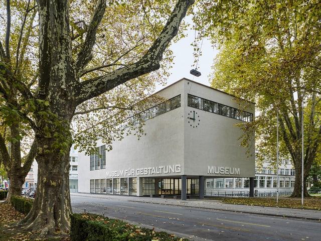 Ein Gebäude mit der Aufschrift Museum für Gestaltung.