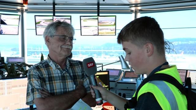 Reporter Marc mit Jürg im Interview
