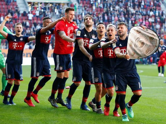 Die Bayern jubeln