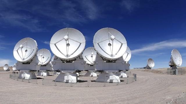 Foto vom Alma-Observatorium im Hochland von Chile.