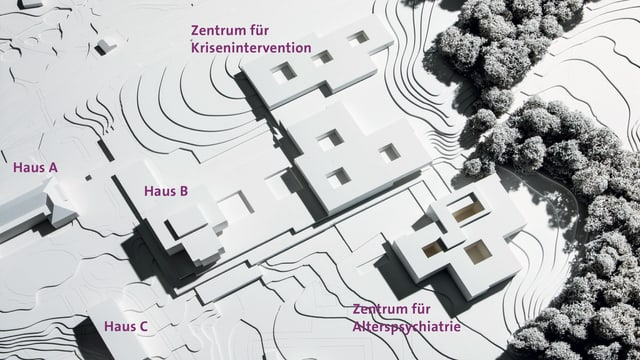 Modell des Campus der Psychiatrie Baselland