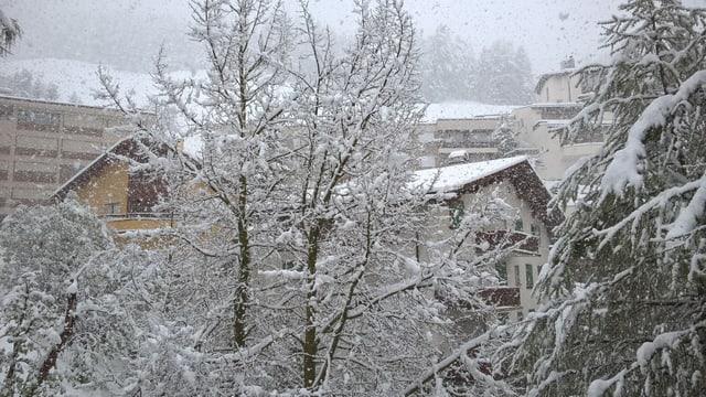 Am 20. Mai schneite es wieder. Für St. Moritz allerdings nicht so aussergewöhnlich.