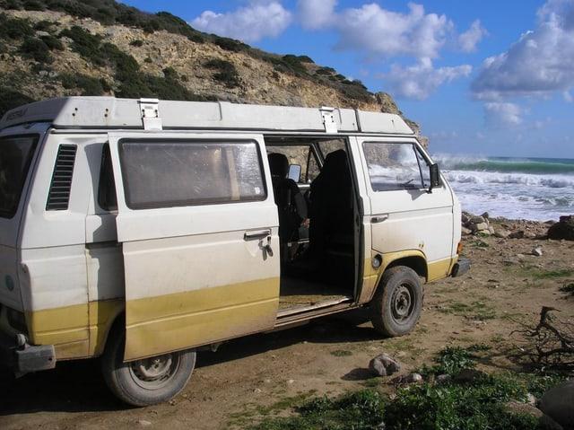 Caravan vom Typ VW T3 Westfalia