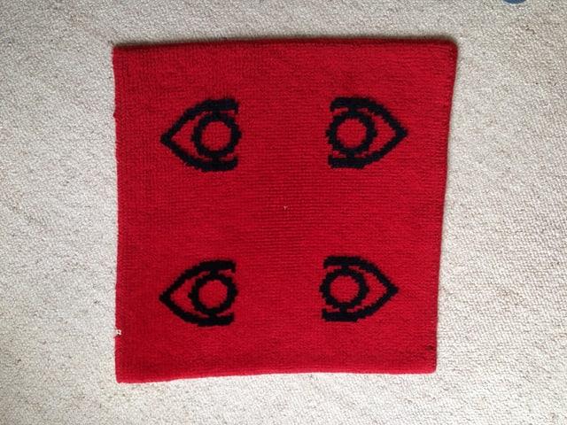 Roter Jassteppich aus dem Jahr 1971.
