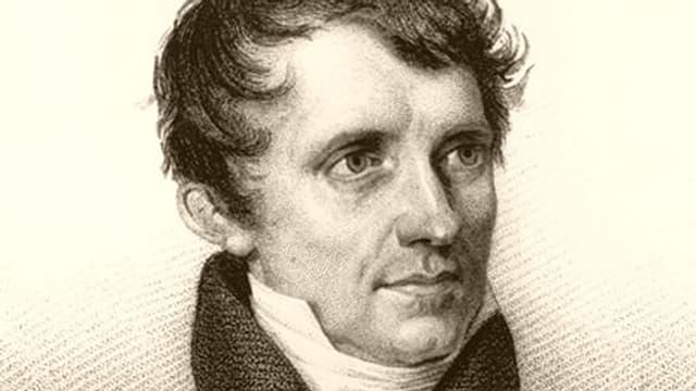 Porträt von James Fenimore Cooper.