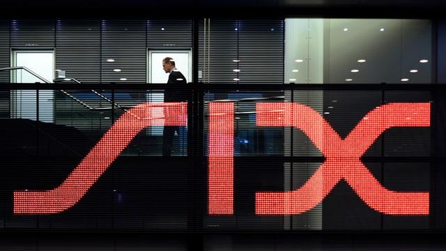 Il logo da la bursa six vi da l'edifizi.