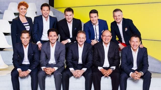 Gruppenbild der SRF-Sport-Moderatoren und -Kommentatoren.