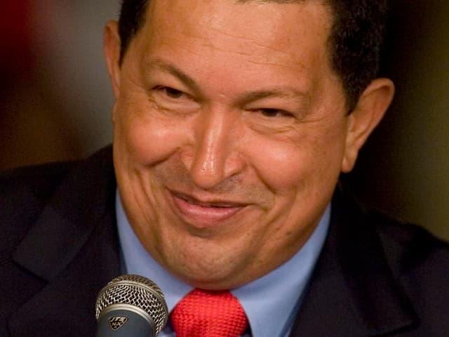 Porträt von Hugo Chavez.