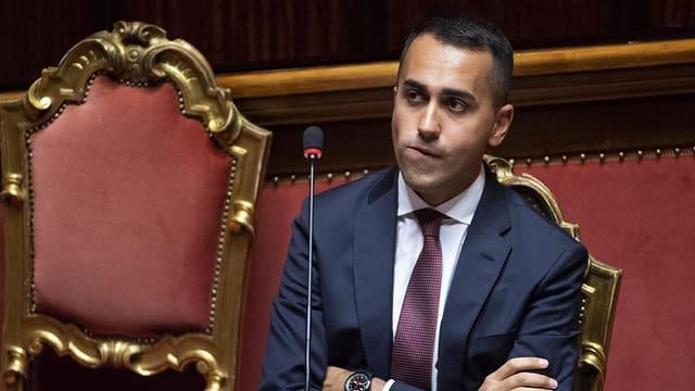 Purtret da Luigi Di Maio en il parlament.